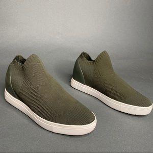 Steve Madden Olive Green Sly Sock Boot Sneaker 8